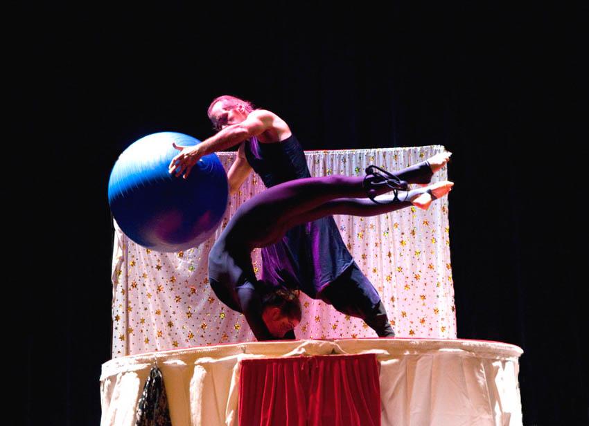 ballon équilibre avant bras